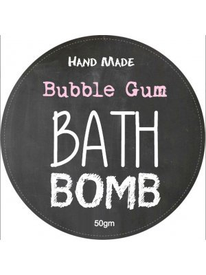 Bubble Gum Bath Bomb Label