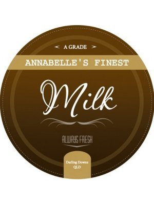 Annabelles Dairy Milk Label