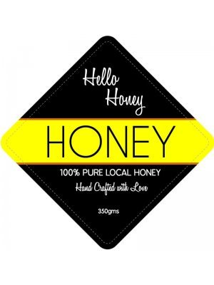 Hello Honey Jar Label