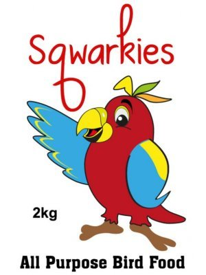 Squarkies Bird Food Packet Label
