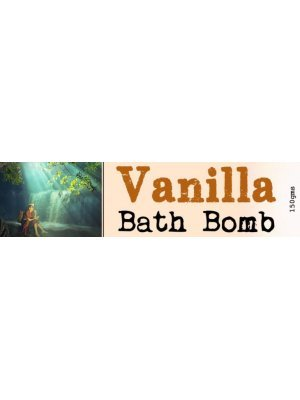 Vanilla Bath Bomb Wrap Around Label
