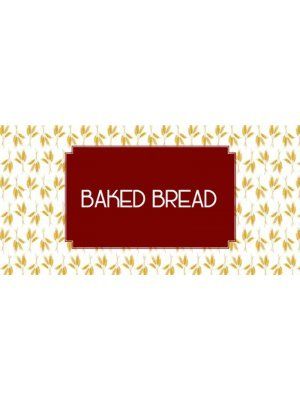 Baked Bread Product Label