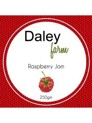Daley Farm Rasberry Jam Square Label
