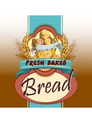 Fresh Baked Bread Square Label