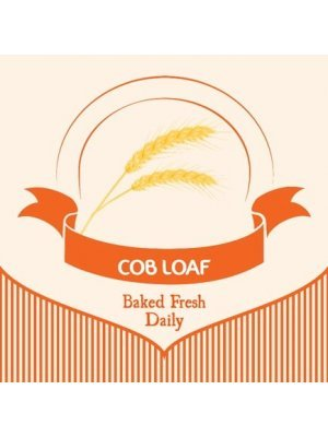 Fresh Cob Bread Loaf Label