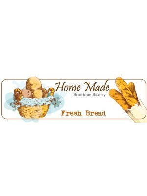 Home Made Fresh Bread Bakery Label