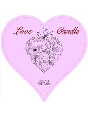 Love Candle Heart Shaped Label