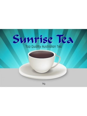 Sunrise Tea Packet Label