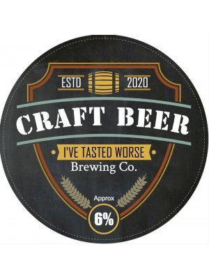 Craft Beer Tap Decal