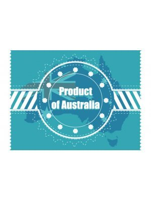 Product of Australia Rectangular Horizontal 1.5:1 Resin Domed Label