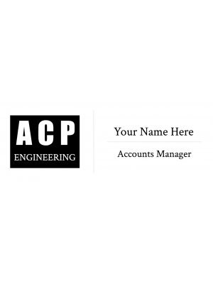 Name Badge Rectangular Horizontal 2.5:1 Resin Domed Label