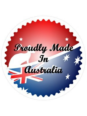Resin Domed Made In Australia Round Logo Decal