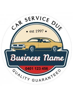 Car Service Due Stickers