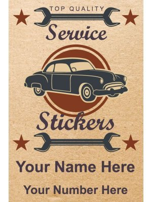 Vertical Service Stickers