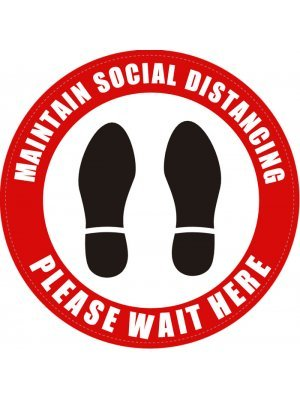 Social Distancing Round Floor Sign