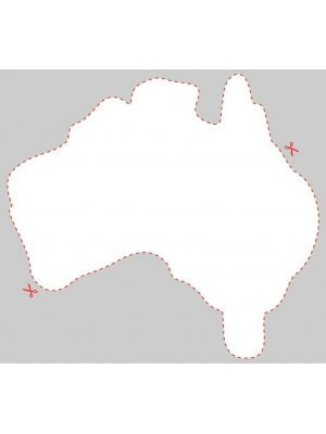 Blank Australia Shaped Label