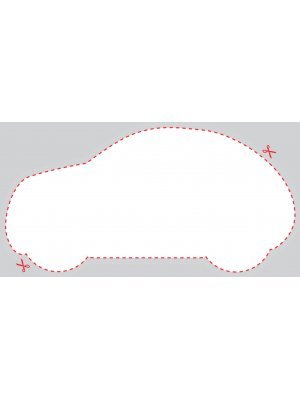 Blank Car or Auto Shaped Label