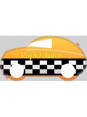 Car or Auto Shaped Label