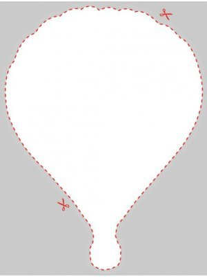 Blank Hot Air Balloon Shaped Label
