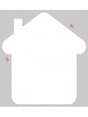 Blank House or Home Shaped Label