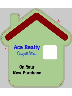 House or Home Shaped Label