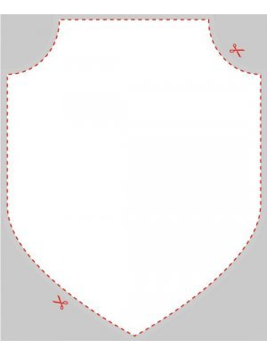 Blank Shield Badge Shaped Label