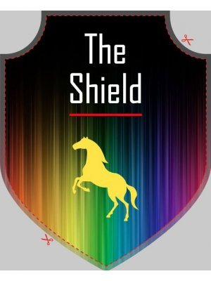 Shield Badge Shaped Label