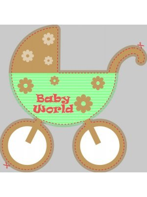 Baby Carriage Shaped Label