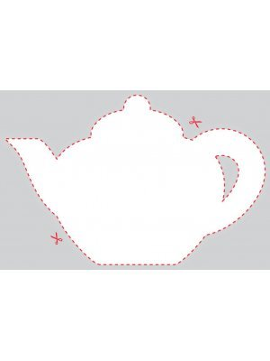 Blank Teapot Shaped Label