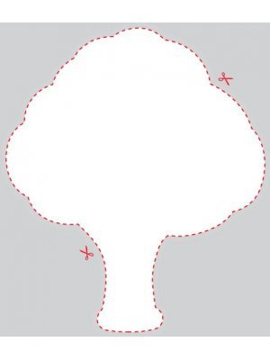 Blank Tree Shaped Label