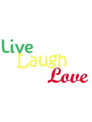Vinyl Cut Lettering 2:1 ratio Decal Live Laugh Love