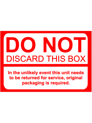 Do Not Discard This Box Label