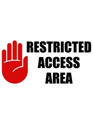 Restricted Access Area Sign