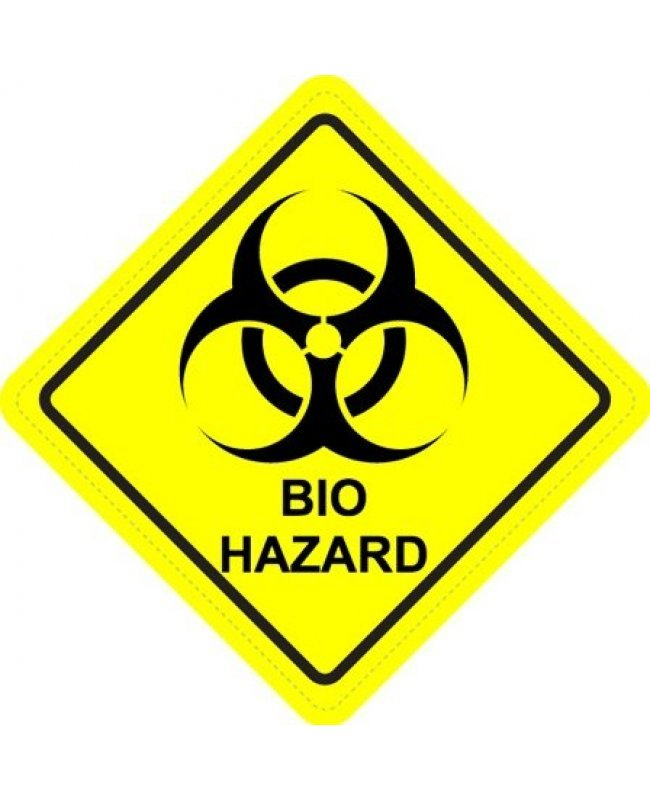 Biohazard diamond warning sign sticker