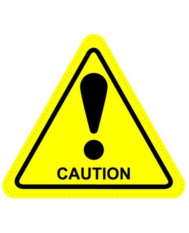 caution warning sign sticker