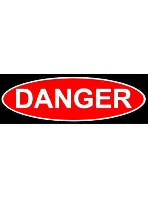 Danger Warning Sign Sticker
