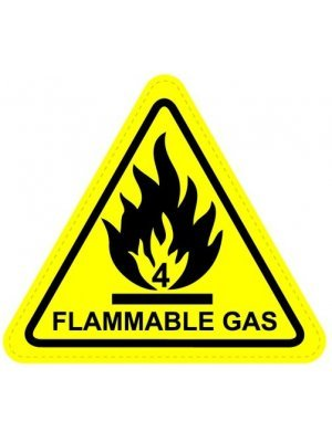 Flammable Gas Warning Sign Sticker