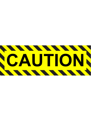 General Caution Warning Sign Sticker