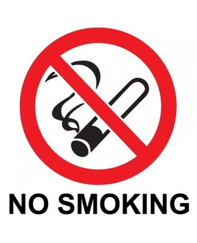 No Smoking Warning Symbol Sticker