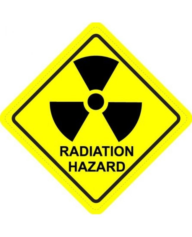 Radiation Hazard Diamond Warning Sign Sticker