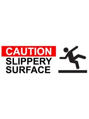Slippery Surface Warning Sign Sticker