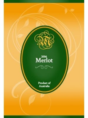 Green and Gold Oval Wine Label
