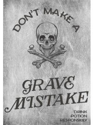 Don't Make A Grave Mistake Wine Label