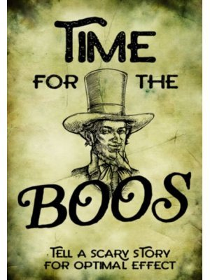 It's Time for Boos Wine Label