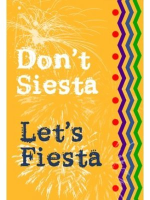 Lets Fiesta Wine Label