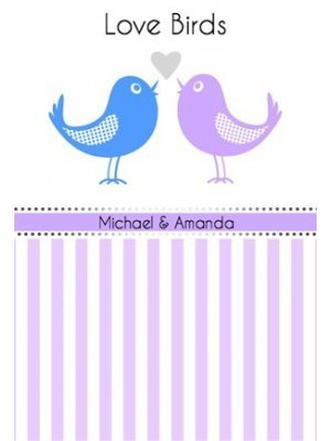Love Birds Wine Label
