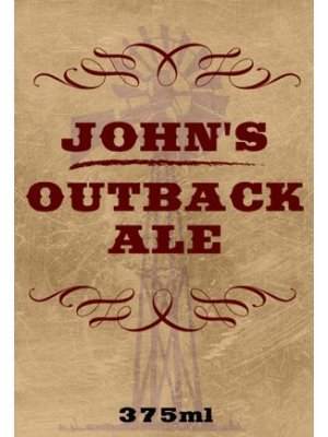Outback Ale Beer Label