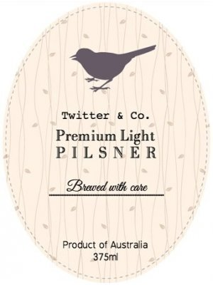 Premium Light Oval Wine Label