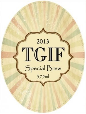 Special Brew Oval Wine Label