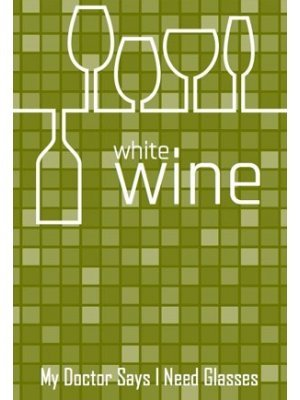 Chequered White Wine Label